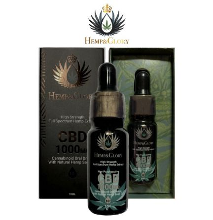 1000mg High Strength CBD Oil In Organic Hemp Seed Oil
