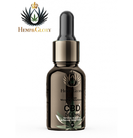 500mg CBD Oil In Organic Hemp Seed Oil